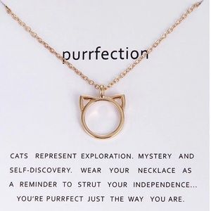 981c53e4b362 Jewelry - Purrfection Cat Ear Necklace